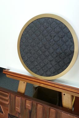 Sizzler's Restaurant - Quilted Fabric Mirror Frame